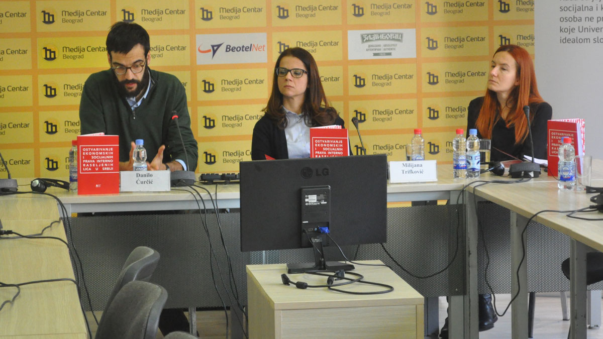 """The report """"Realisation of Economic and Social Rights for Internally Displaced Persons in Serbia"""" was presented"""