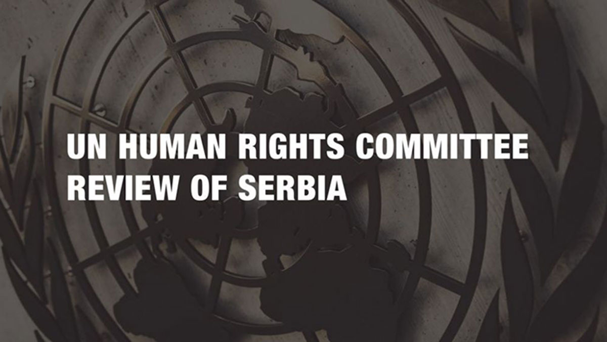 A 11 Initiative has submitted comments regarding follow- up document that Serbia has submitted to the UN Human Rights Committee in relation to the Concluding observations on the Third periodic report of Serbia