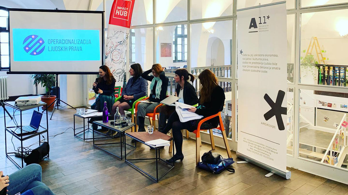 "A 11 – Initiative for Economic and Social rights has organised a panel discussion ""THE POSITION OF WOMEN ON LABOR MARKET – from numbers to actual status"""