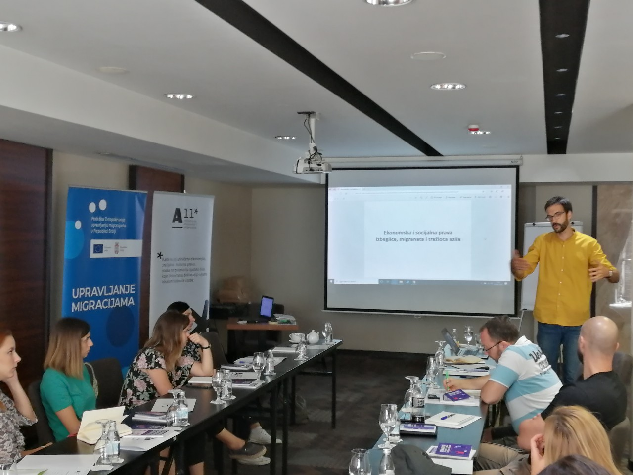 "A11 – Initiative for Economic and Social Rights has organized a workshop ""Refugee integration in Serbia through improved access to social and economic rights """